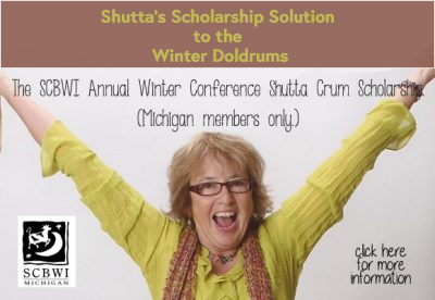 """Longtime SCBWI MI member, award-winning author, and mentor, Shutta Crum is offering her SCBWI Annual Winter Conference Shutta Crum Scholarship once again. The deadline for applying is tight. Here are the details: (open to current Michigan members only) This scholarship will fund one Michigan SCBWI member's tuition for attendance at the Annual SCBWI Winter Conference at the Grand Hyatt at Central Grand Station in New York, NY. Dates: February 8-10, 2019. (Info: http://scbwi.org) Early bird registration starts on October 23rd. The scholarship amount is for the cost of early bird member registration. The chapter will provide an additional $200 towards transportation costs. Applicant must: --have been an SCBWI-MI member for a minimum of three years. --have not had more than two books published by a publisher-member of the Children's BookCouncil. --not have been an awardee of this scholarship in previous years. --not have attended a National SCBWI conference in either LA or New York in any previous year. (A former RA attending a national conference in his/her capacity as an RA is excepted.) --submit the necessary form/information via email to Leslie Helakoski at: leslie AT helakoskibooks DOT com. Starting NOW! (offer will end Oct 26) --not currently be a member of SCBWI-MI Chapter Advisory or a Non-Advisory Committee The winning applicant will: --be chosen at random by an appointed member of the SCBWI-MI AdCom from all qualifying applicants. (In time to register before the end of the """"early bird"""" period.) --be notified BY PHONE. (Please include your phone number!). If the winner is unreachable by telephone the winner will be notified by email and must respond to that email within 36 hours or a new winner will be selected. --be mailed a check for reimbursement of the registration fee (Not to exceed the cost of the early-bird registration fee.), once the winner can supply proof of his/her registration and $200 towards transportation costs. --be responsible for notifying SC"""