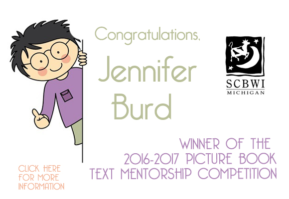 The winner of the 2016-2017 Picture Book Text Mentorship competition is Jennifer Burd for her entry When You Sit in One Place. Jennifer won a one-year mentorship with picture book author Deborah Diesen. The two runners-up are Sue Agauas for her entry, How to Wash Your Elephant, and Jayne Economos for her entry, Nan's Magic Carpet.